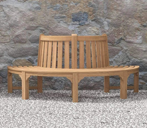 Semi-Circular Teak Bench  - Chic Teak® | Luxury Teak Furniture