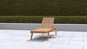 Teak Sun Lounger Stackable  - Chic Teak®