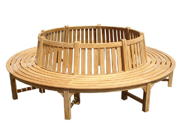 Circular teak tree bench large