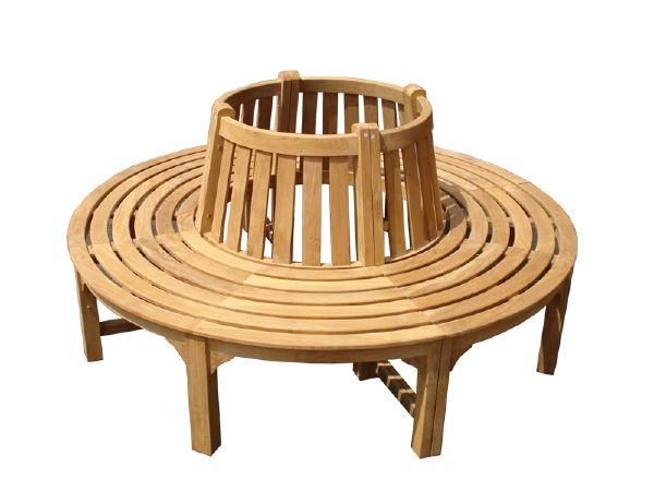 Circular teak tree bench small