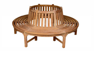 Circular teak tree bench medium