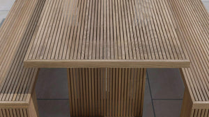Mayfair Teak Table & Benches  - Chic Teak® | Luxury Teak Furniture