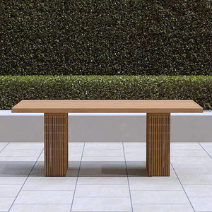 Mayfair Contemporary Teak Dining Table  - Chic Teak® | Luxury Teak Furniture