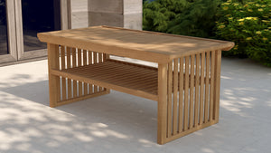 Teak coffee table for conservatory