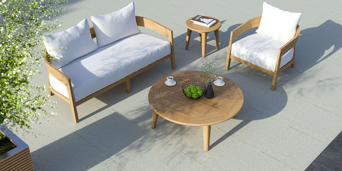 The Windsor Teak Round Coffee Table