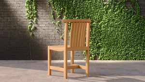 Teak Garden chair without arms back view