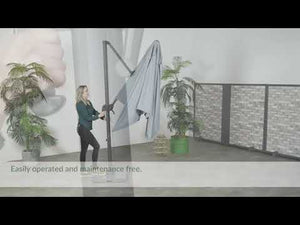 Cantilever light parasol how to open
