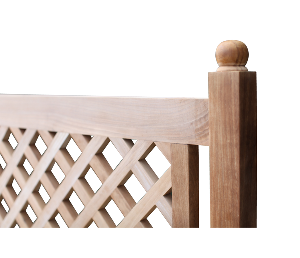Marden Teak bench close up