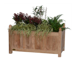 Teak planter rectangular medium