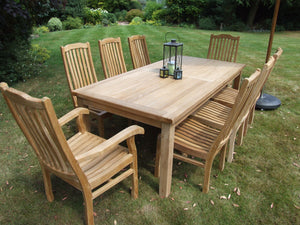 Fixed Rectangular Table & 8 Kensington Chair Set