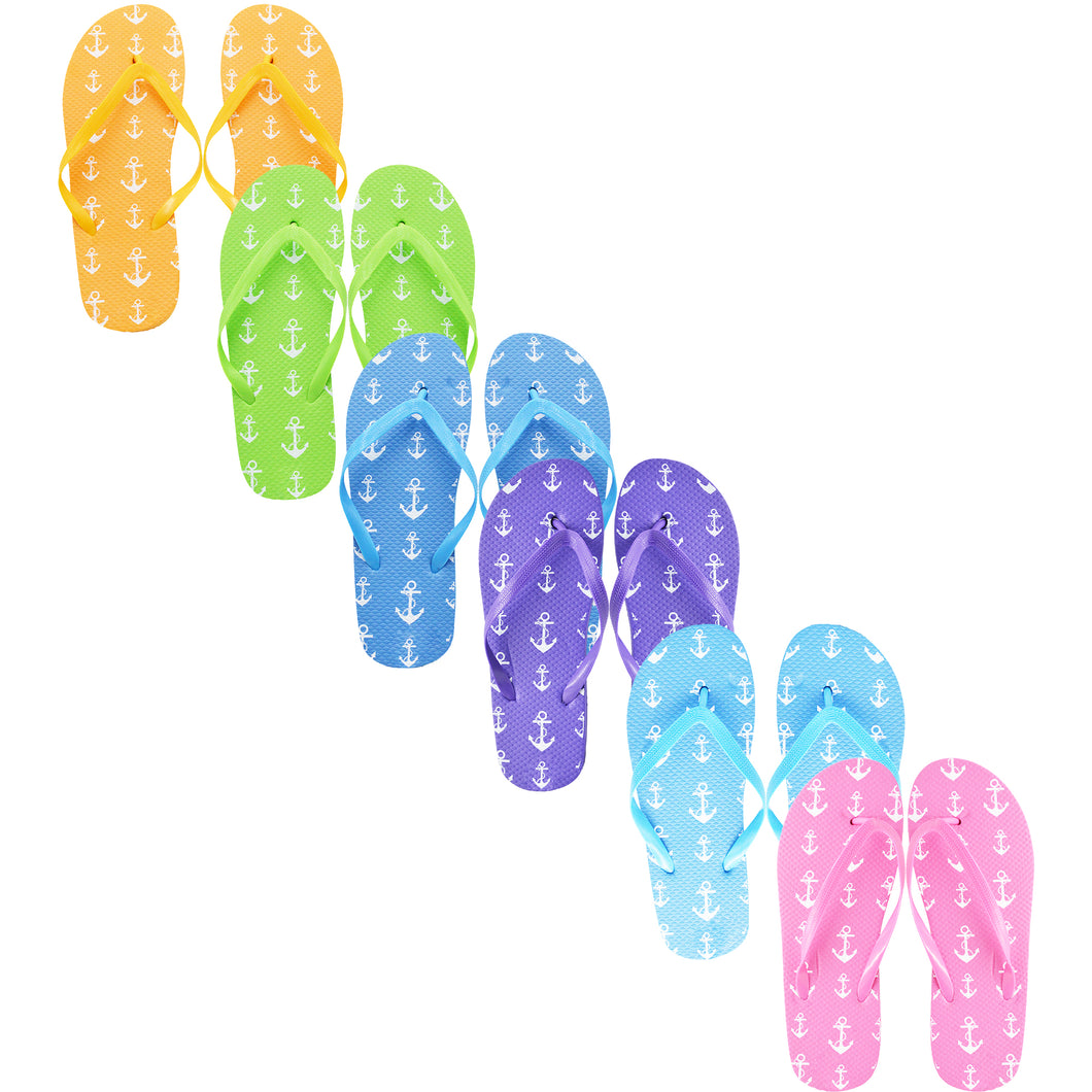 Anchor Flip Flops (Case of 48 Pairs)