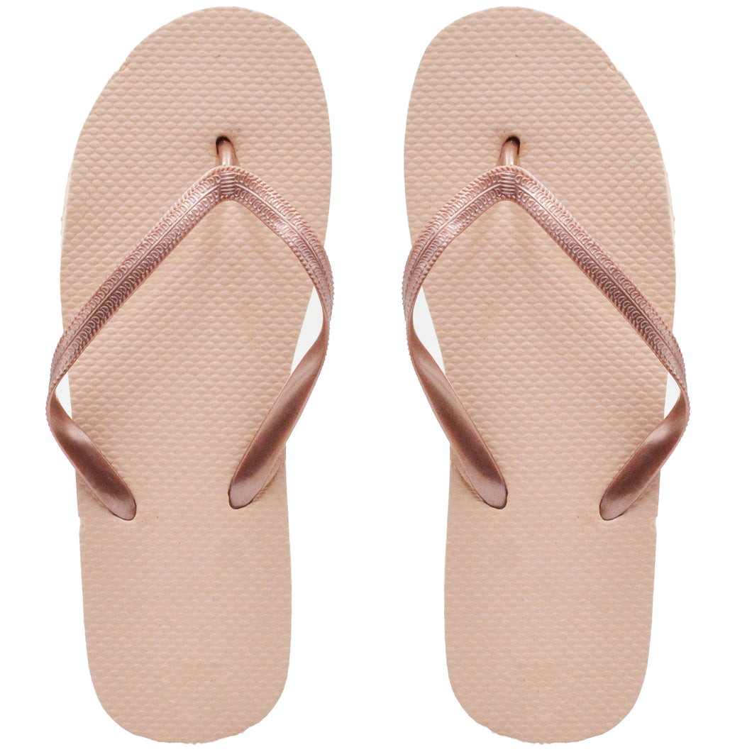 Pink Gold Flip Flops (Case of 48 Pairs)