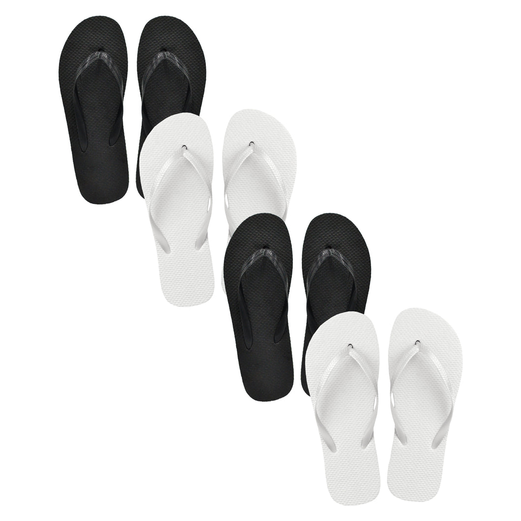 Black & White Mixed Flip Flops (Case of 48 Pairs)