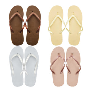 Assorted Metallic Flip Flops (Case of 48 Pairs)