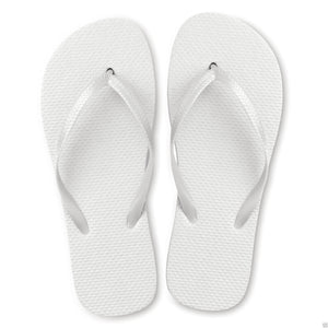 White Flip Flops (Case of 48 Pairs)