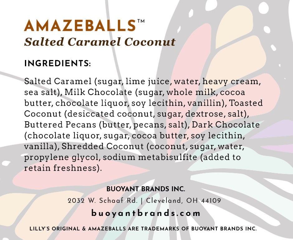Lilly's Original AMAZEBALLS - Salted Caramel Coconut (Non-Infused)