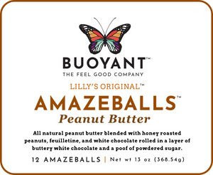 Lilly's Original AMAZEBALLS - Peanut Butter (Non-Infused)