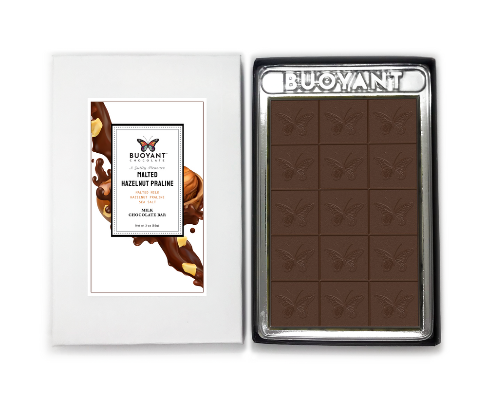 MALTED HAZELNUT PRALINE - An Artisan Chocolate Bar