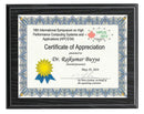 Recessed Black Oak Certificate Plaque