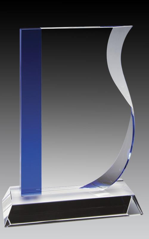 Crystal Wave Blue Accent Award