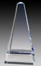Crystal Obelisk Clear and Blue Award