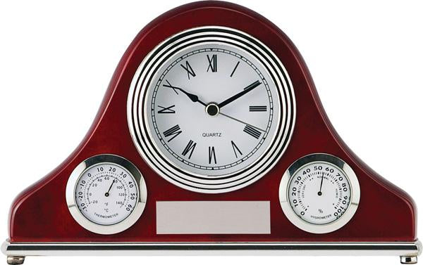 Riviera Rosewood Weather Station Clock
