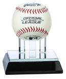 Glass Baseball Holder Award