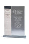 Clear Glass Tall Annual Plaque
