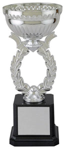 Plastic and Metal Silver Wreath Cup