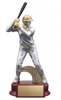 Resin Classic Female Softball Trophy in Silver and Gold