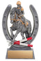 Resin Pinnacle Equestrian Horseshoe/Rider Trophy