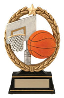 Resin Negative Space Basketball Trophy