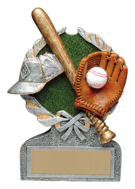 Baseball Vintage Wreath Resin Trophy