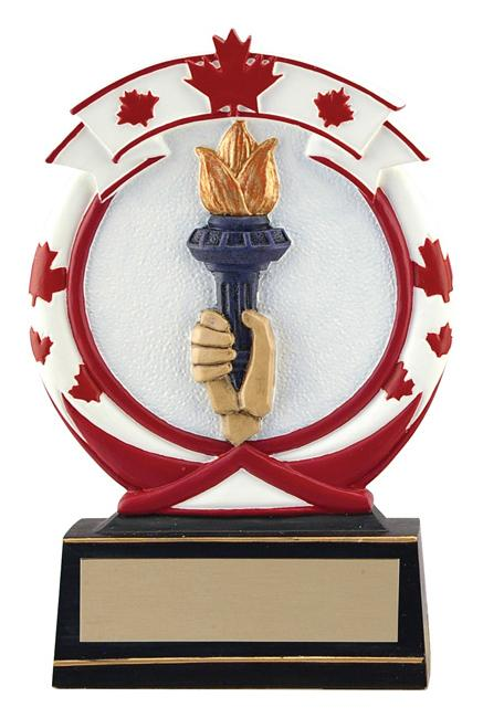 Resin Maple Leaf Victory Trophy