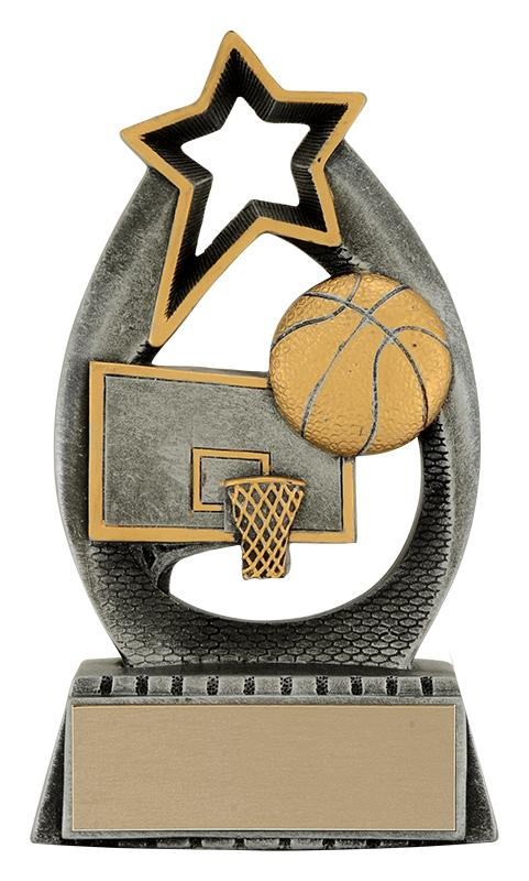 Resin Starlight Basketball Trophy