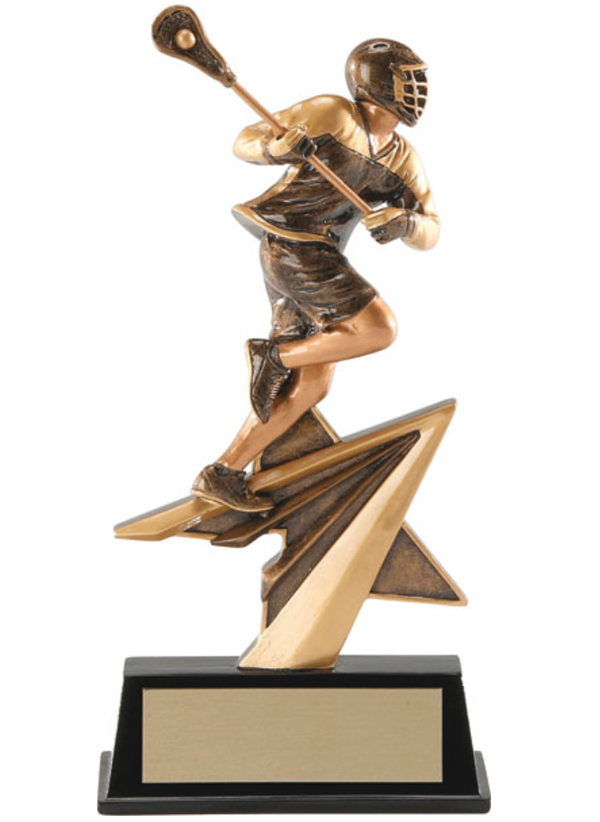 Classic Male Lacrosse Player - Gold and Black