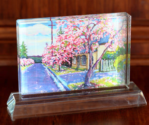 """A Place of Seasons"" on Glass by Daniela Selir"