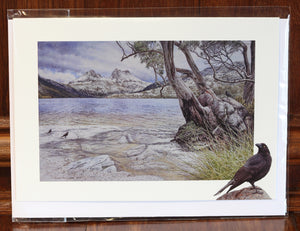 "Greeting Card - ""Guardians of the Mountain, Cradle Mountain""."