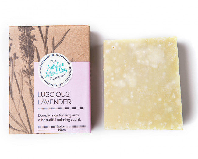 Boxed Natural Solid Soap - Lavender