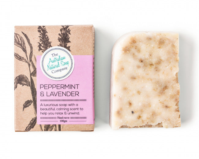 Boxed Natural Solid Soap - Peppermint & Lavender