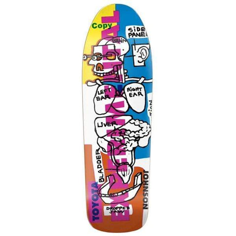 "Blind Skateboards Tavola skateboard 9.875"" Tavola skateboard old school Rudy Johnson Experimental R7 9.875"""