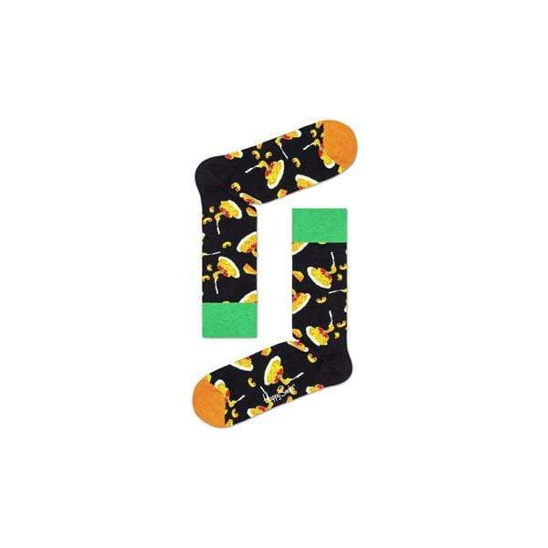 Happy Socks Calze Mac&Cheese black / orange / green - Downtown skateshop online
