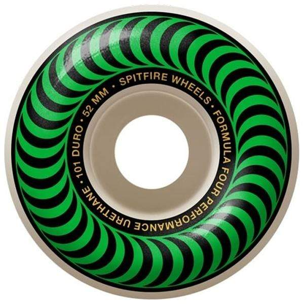 Spitfire Wheels Ruote skateboard 52mm Ruote skateboard Classics Formula Four 101D 52mm green