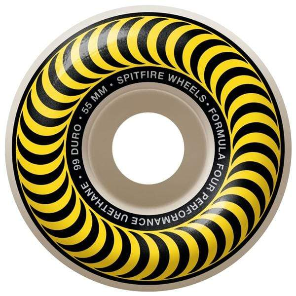 Spitfire Wheels Ruote skateboard Classics Formula Four 99D 55mm yellow - Downtown skateshop online
