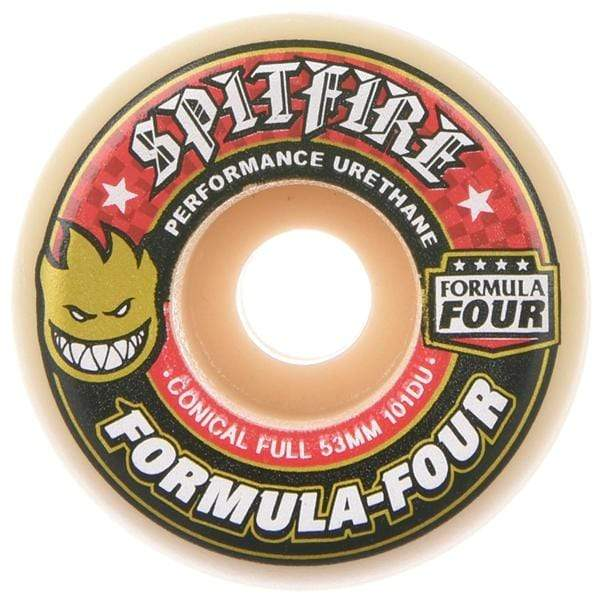 Spitfire Wheels Ruote skateboard Conical Full Formula Four 101D red print - Downtown skateshop online