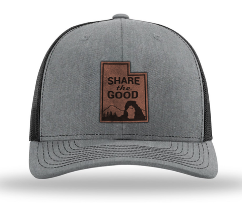 """Share the Good"" Utah Hat (Heather Grey/Black)"