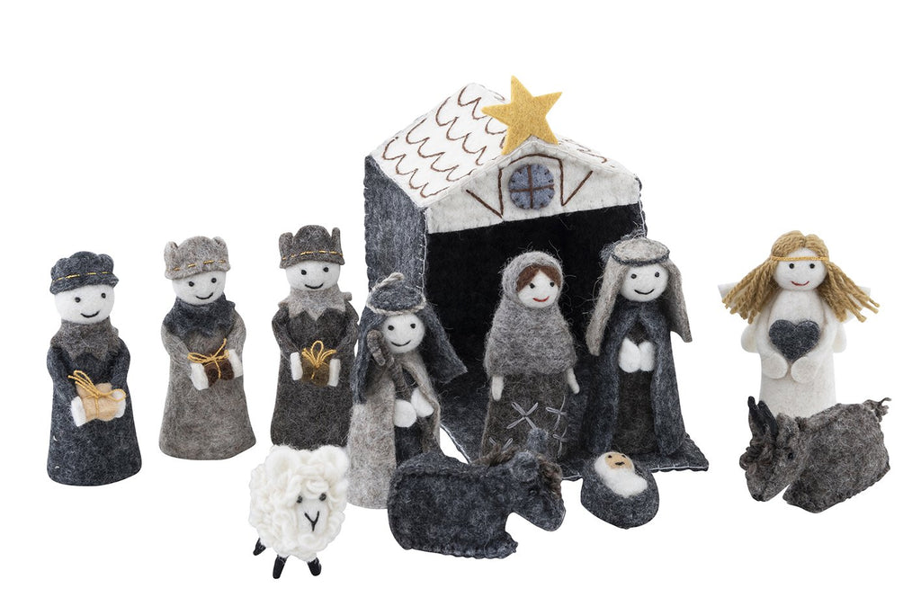 Handmade Fairtrade Felt Christmas Nativity Set