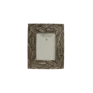 Lucia Palm Photo Frame Silver 2.5x3.5""