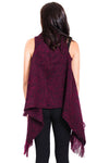 Women's Boho chic Winter Woolen Fringed Vest