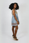 Island Lovebird Feathery Open Back Tunic